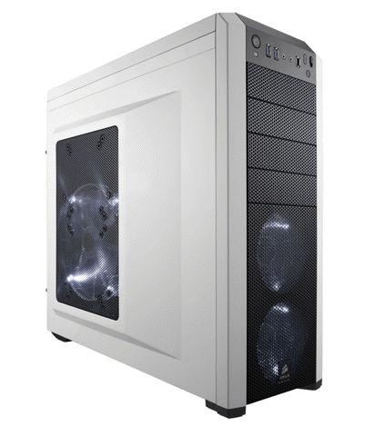 (Mid-Tower) Case Corsair 500R White Carbide Series