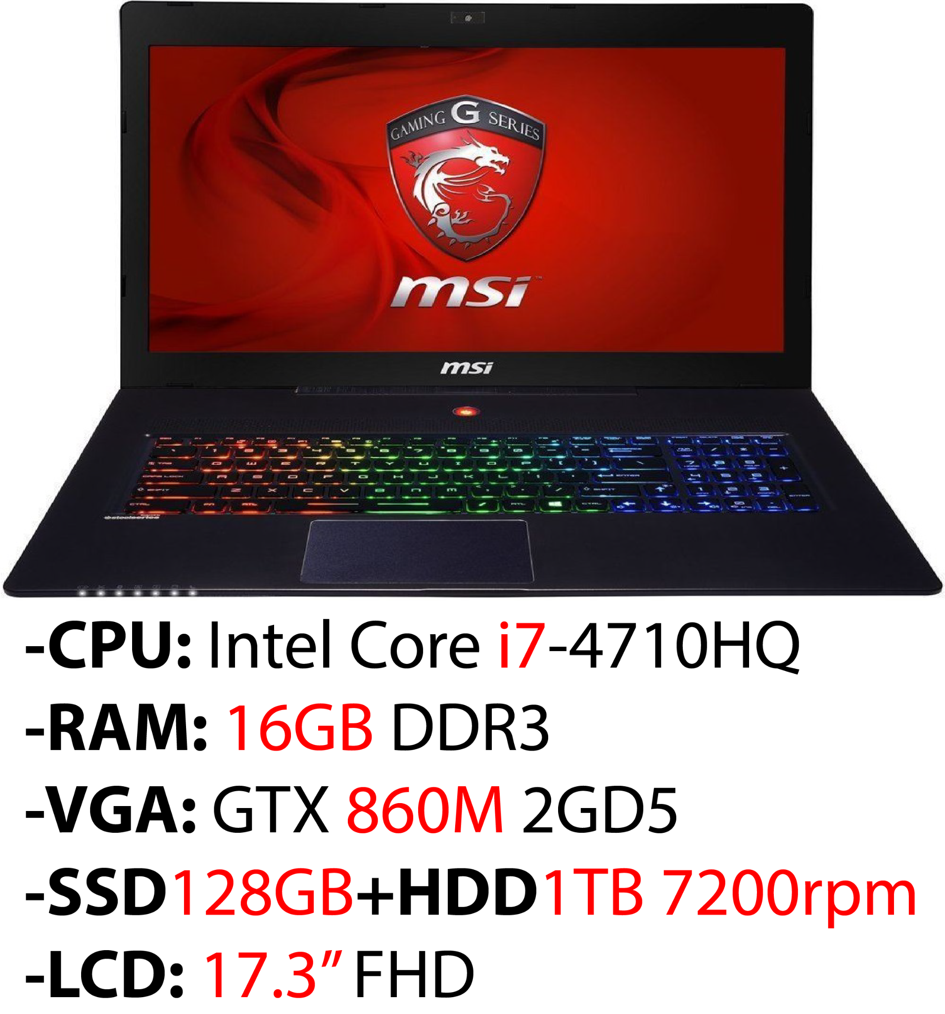 Laptop Gaming MSI GS70 2PC Stealth 490XVN