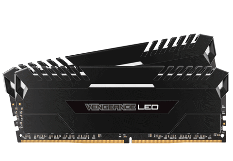 ( 16G DDR4 2x8G 2666 ) Corsair Vengeance White LED