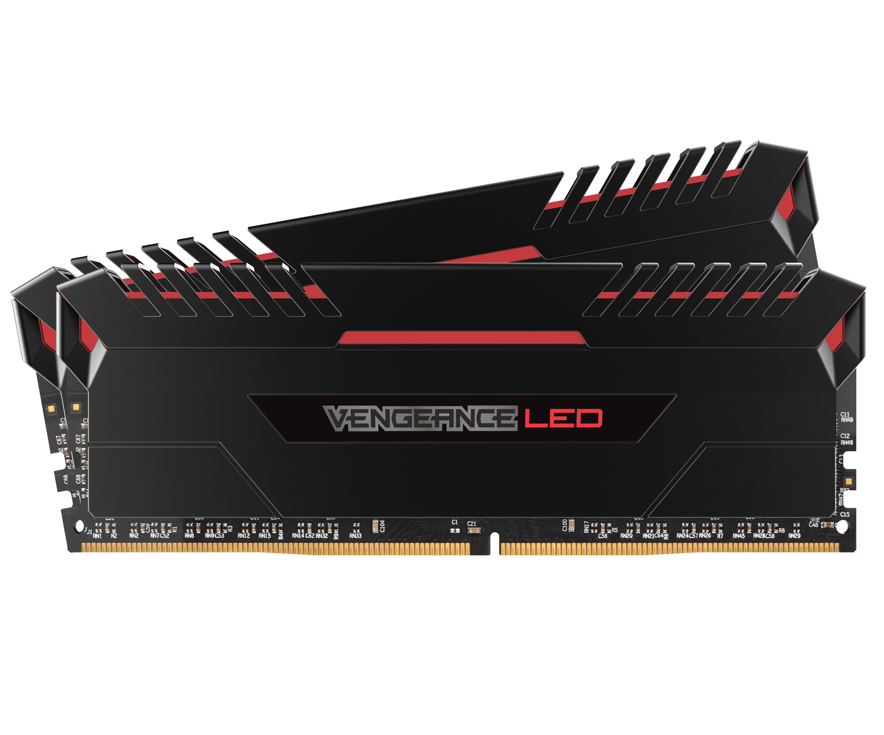 RAM Corsair Vengeance Red LED DDR4 2x8GB Bus 2666
