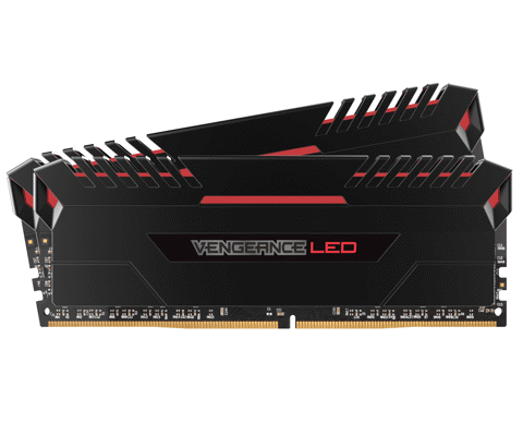 ( 16G DDR4 2x8G 2666 ) Corsair Vengeance Red LED