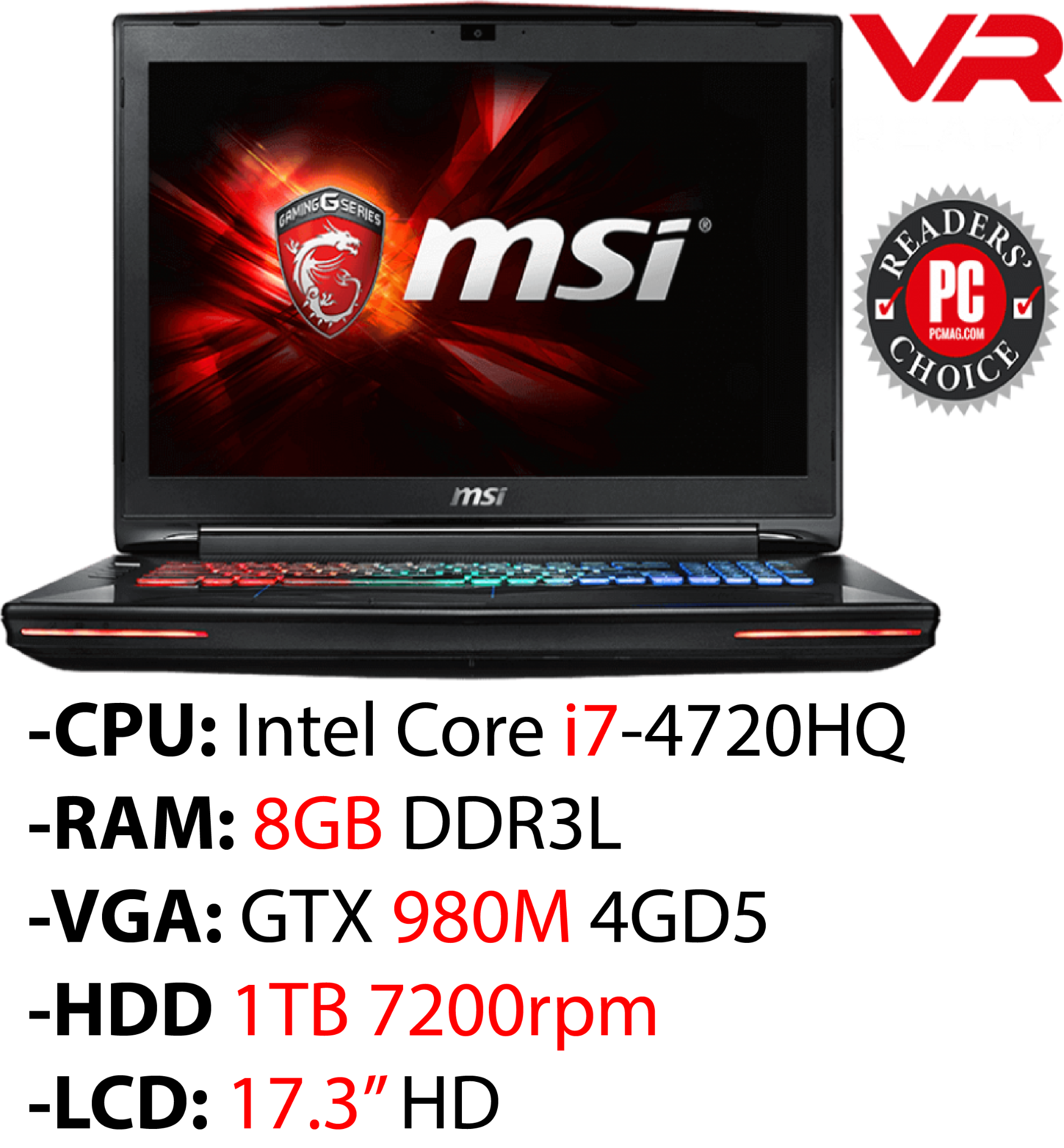 Laptop Gaming MSI GT72 2QE Dominator Pro 814XVN
