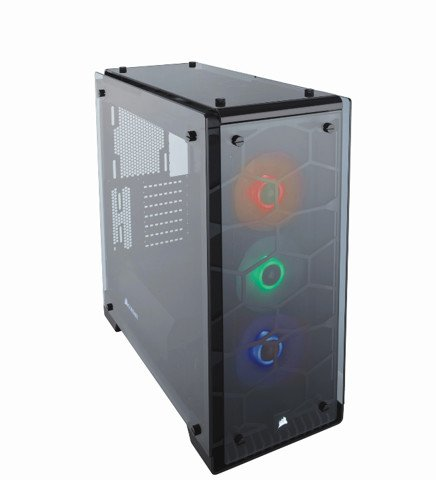 (Mid-Tower) Case Corsair 570X RGB Crystal Series Tempered Glass