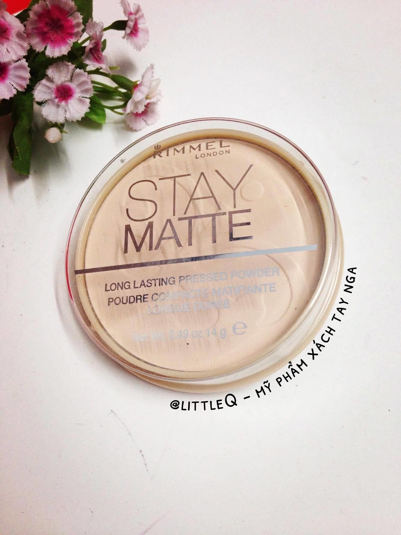 PHẤN PHỦ RIMMEL LONDON STAY MATTE
