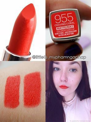SON MAYBELLINE CREAMY MATTE  - CRAVING CORAL 955