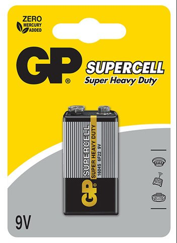 GP Supercell Carbon Zinc 9V