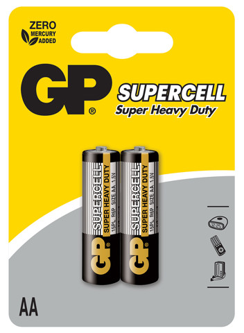GP Supercell Carbon Zinc AA