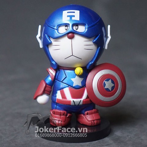 Mô hình Doraemon Captain America (đỏ)
