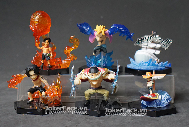 Set mô hình White Beard Crew - One Piece