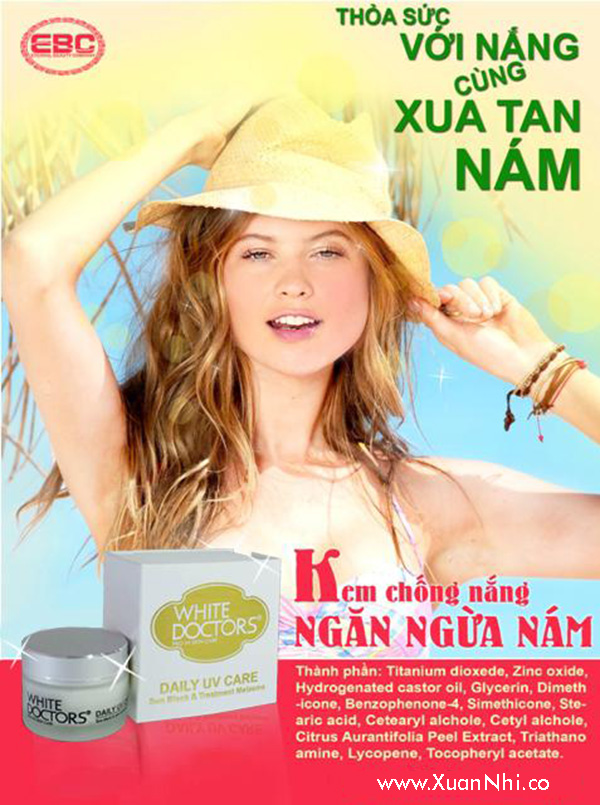 kem chong nang tri nam daily uv care white doctors