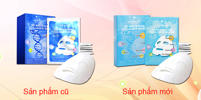 mat na trang da nang co sakura collagen 3d whitening mask