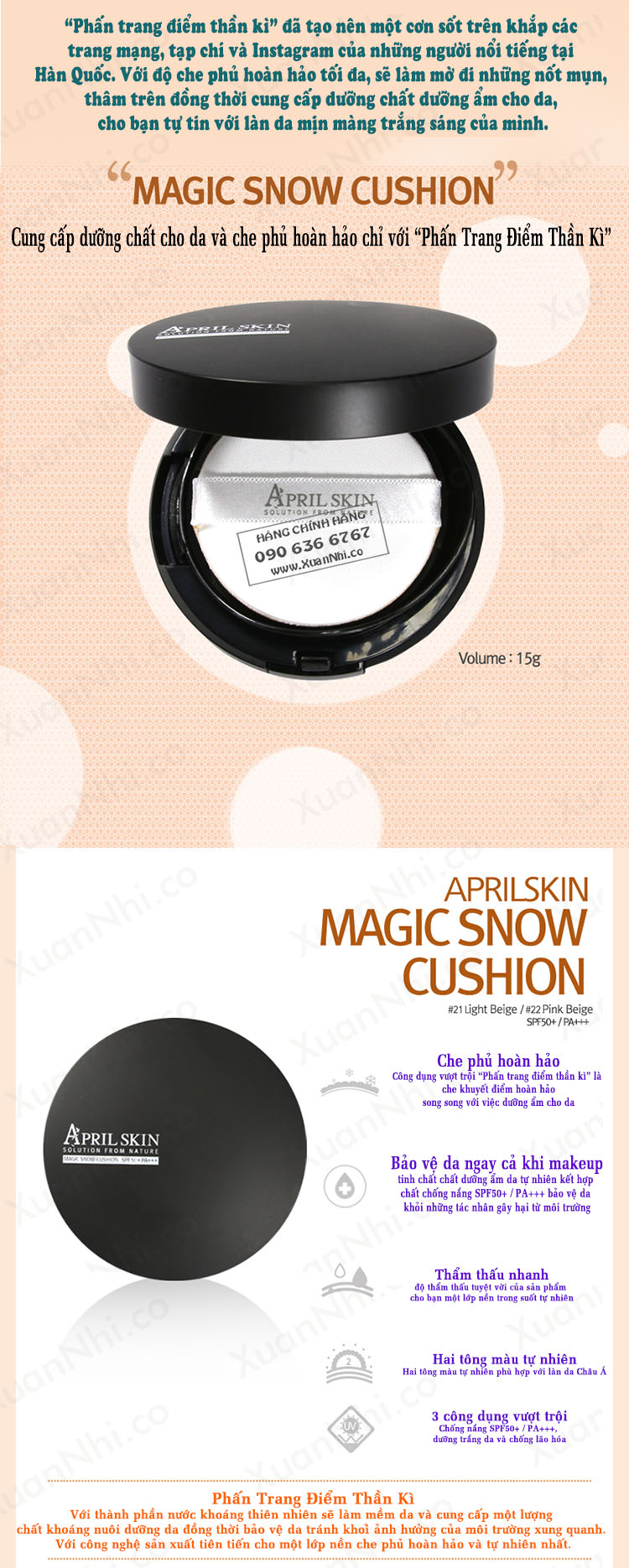 phan-trang-diem-april-skin-magic-snow-cushion