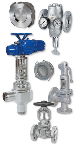 Valves, steam trap, boiler electronics