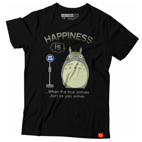 GIAYNAMNUNIKEADIDAS - Áo Thun Unisex Bus stop - Happiness is 1