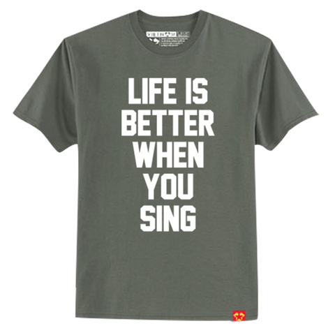 GIAYNAMNUNIKEADIDAS - Áo Thun Unisex Life better when you sing