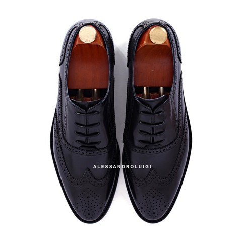GIAYNAMNUNIKEADIDAS - Giày Nam Luigi full brogues - BLACK leather - LG90-41