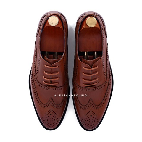 GIAYNAMNUNIKEADIDAS - Giày Nam Luigi full brogues - BROWN leather - LG90-42