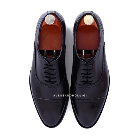 GIAYNAMNUNIKEADIDAS - Giày Nam Luigi quarter brogues - BLACK leather - LG90-43