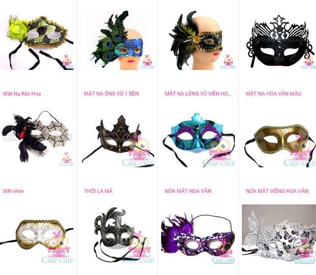 Shop mặt nạ lông vũ