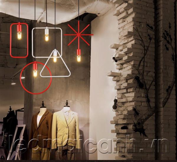 chao đèn thả trần đẹp, chao den trang tri shop