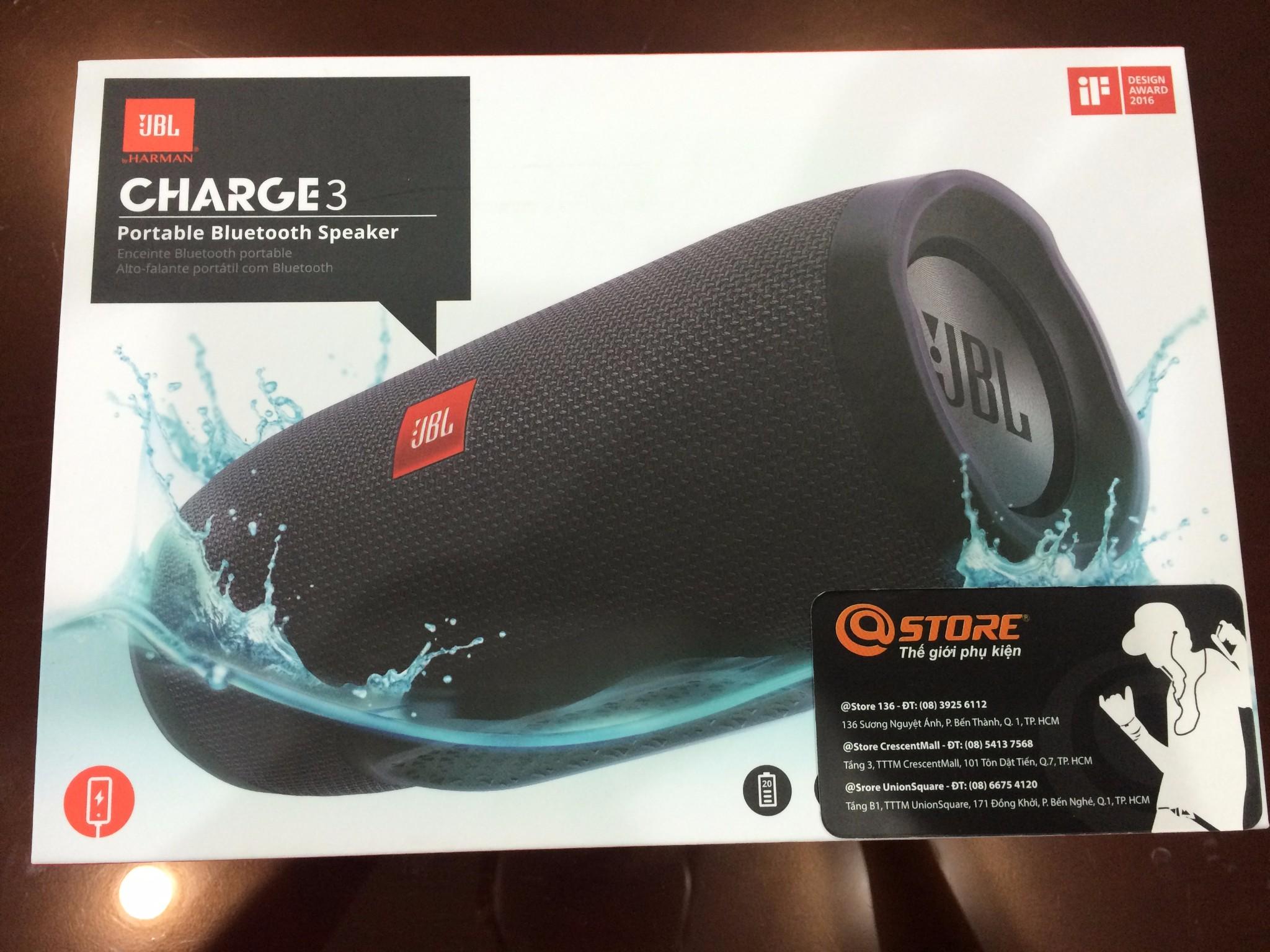 JBL Charge 3 - Loa di động chống nước tốt nhất hiện nay
