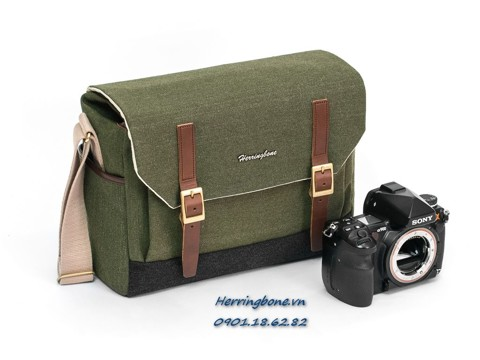 Herringbone Postman Medium Olive