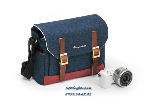 Herringbone Postman Small Navy