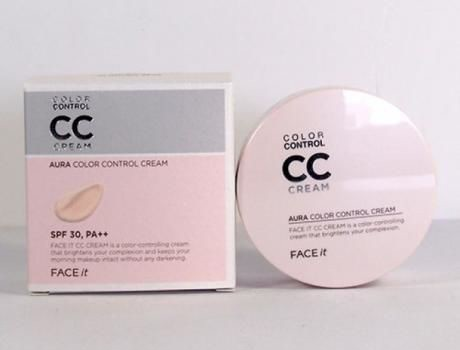 CC Cream Face It Aura Color Control Cream, SPF 30 PA +++ The Faceshop 20g