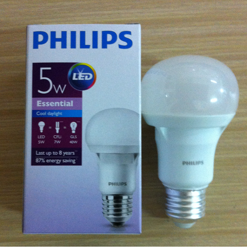 Bóng Led bulb 5W Philips