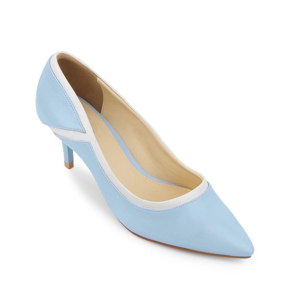 Giày cao gót 5cm mũi nhọn phối màu điệu đà CG05009