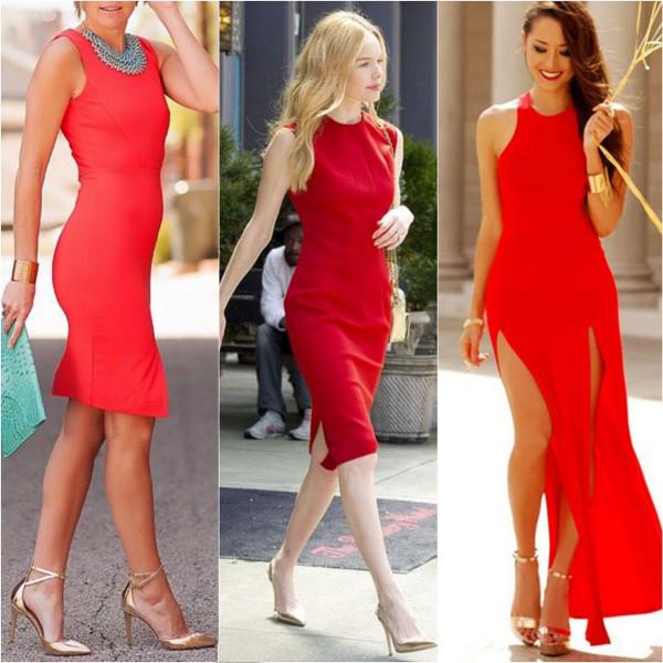 Fashionable Clothes Shoes Jeans Lipsticks Nail Polish: Váy đỏ Nên Kết Hợp Với Giày Màu Gì?