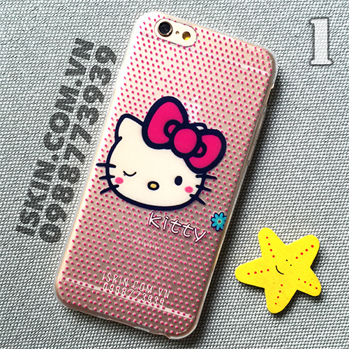 Ốp Lưng Iphone 5, 5s, 6, 6 Plus Hello Kitty