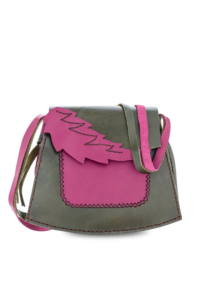 10622015 - HANDMADDE SUMMER LEAF CROSS BODY BAG