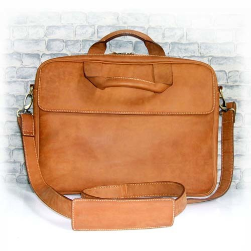 W COW LEATHER SMALL FLAP LAPTOP BAG