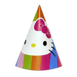 Nón sinh nhật Hello Kitty 16cm 6/gói - Hello Kitty party hats 6/pack