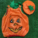 Áo bí ngô kèm nón - Pumpkin costume top with beret for kids