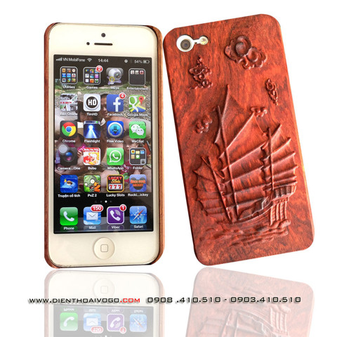 Case gỗ 3D Iphone 5/5S