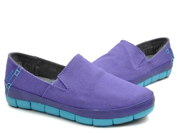 Crocs - Stretch Sole Giày Loafer W Ultra Violet/Electric Blue Nữ