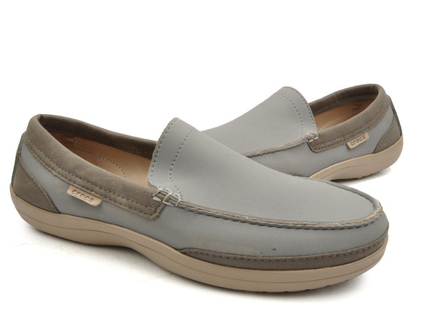 Crocs - Wrap ColorLite Giày Loafer M Smoke/Tumbleweed Nam