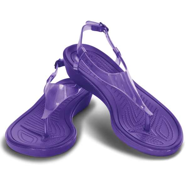 Crocs - Giày Sandal Nữ Really Sexi T-strap (Ultraviolet)