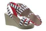 Crocs - Leigh Graphic Guốc Wedge W NANAV/White Nữ