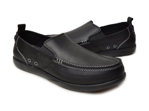 Crocs - HARBORLINE LOAFER M BLACK/BLACK Nam