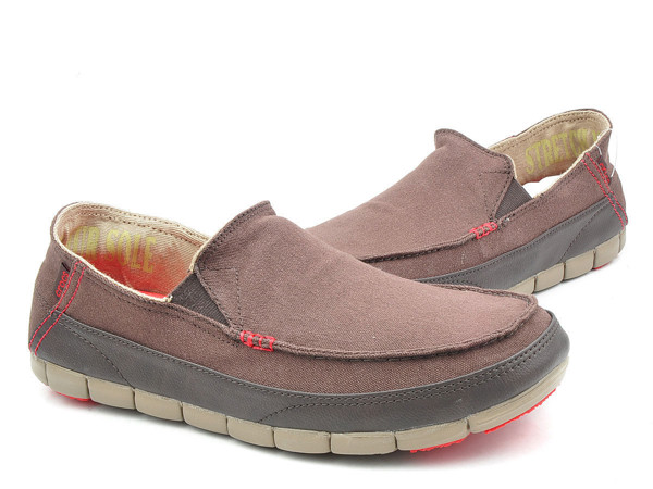 Crocs - Stretch Sole Giày Loafer M Espresso/Khaki Nam