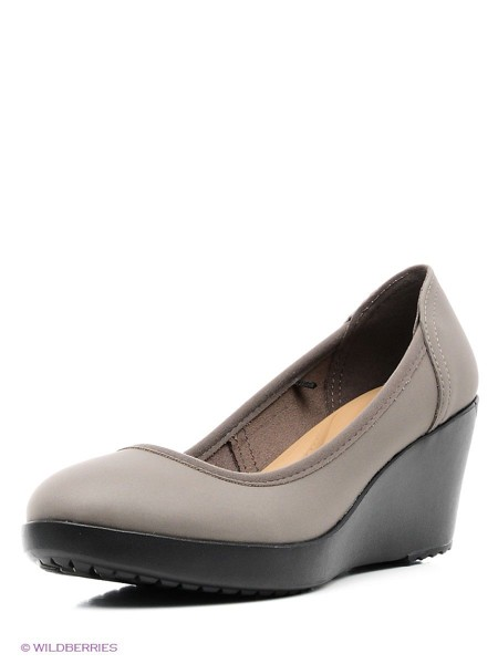 Crocs - Guốc Nữ Marin ColorLite™ Wedge Pewter/Black (Xám Chì)