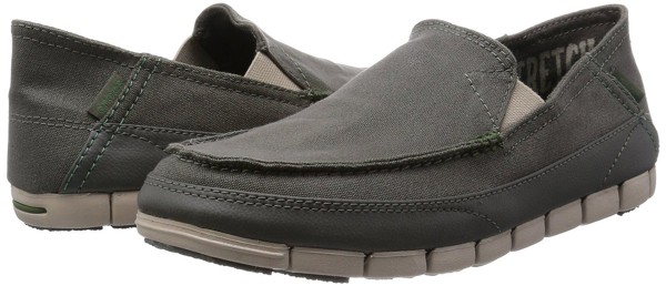 Crocs - Stretch Sole Giày Loafer M Dusty Olive/Cobblestone Nam