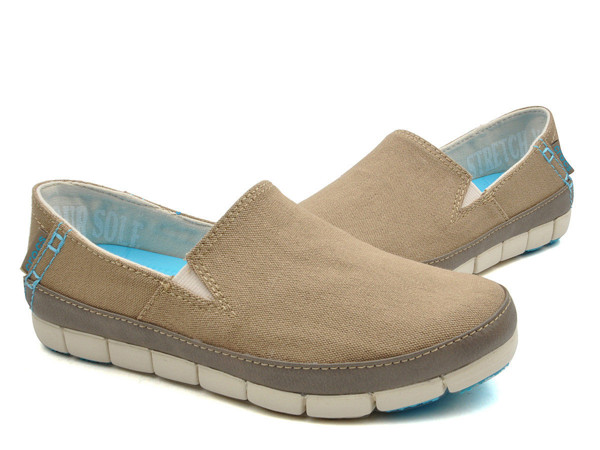 Crocs - Stretch Sole Giày Loafer W Khaki/Stucco Nữ