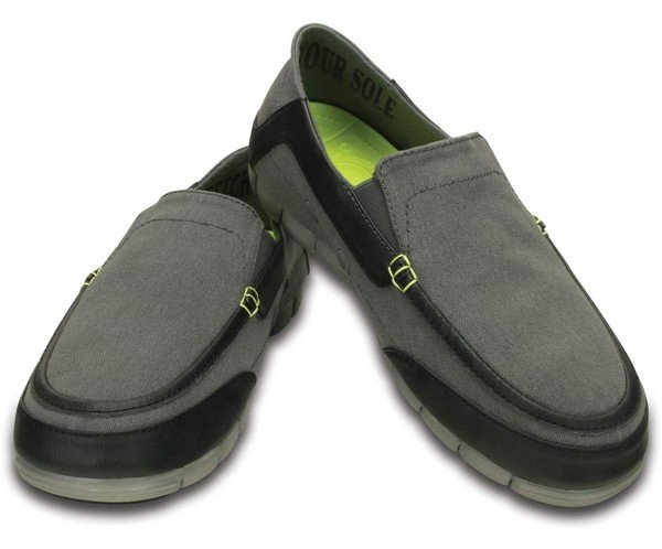 Crocs - Stretch Sole Torino Giày Loafer Graphite/Black Nam