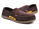Crocs - Walu Accent Giày Lười Suede Giày Loafer M Espresso/Canary Nam