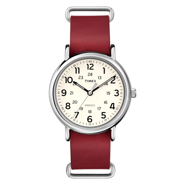 Timex - Đồng Hồ Unisex Nam/Nữ Dây Da T2P493 Weekender™ Leather Oversized