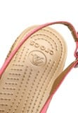 Crocs - A-leigh Linen Cork Wrap Guốc Wedge Coral/Gold Nữ